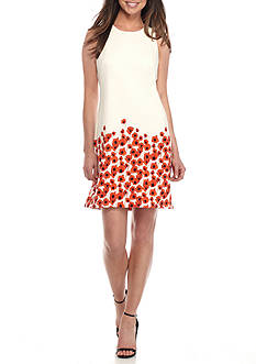 Taylor Bottom Printed Scuba Sheath Dress