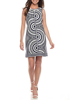 Taylor Beaded Neck Sheath Dress