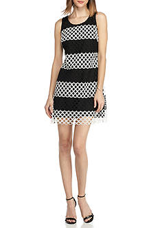 Taylor Stripe Lace Sheath Dress