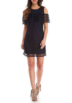 Taylor Lace Cold Shoulder Dress