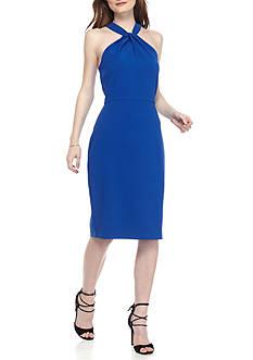 Taylor Twist Neck Halter Dress