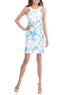 Taylor Floral Printed Halter Dress