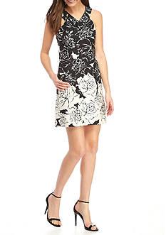 Taylor Textured Cotton V-Neck Halter Dress