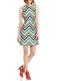 Taylor Chevron Stripe Scuba Sheath Dress