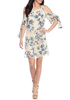 Taylor Floral Printed Cold Shoulder Dress
