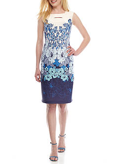Taylor Floral Printed Sheath Dress