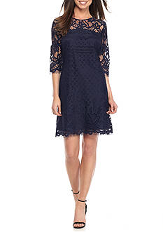 Taylor Three-Quarter Sleeve Lace Dress