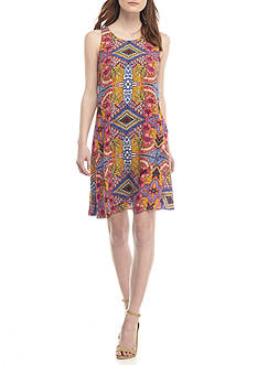 Taylor Floral Printed Faux Wrap Dress