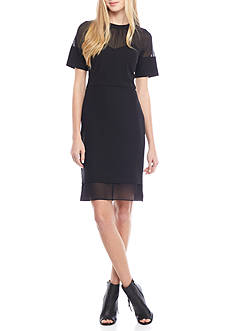 Anne Klein Illusion Neckline Sheath Dress
