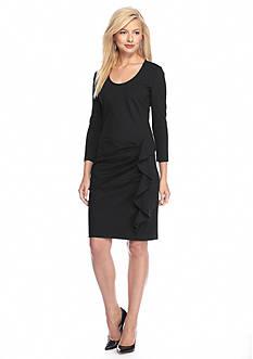 Anne Klein Side-Ruffle Sheath Dress