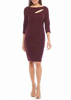 Anne Klein Jacquard Twill Sheath Dress