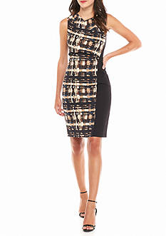 Anne Klein Printed Panel Sheath Dress