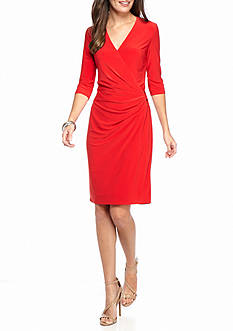 Anne Klein Side Drape Jersey Dress