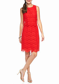 Anne Klein Lace Popover Sheath Dress