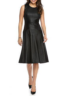 Anne Klein Seamed Fit and Flare Dress