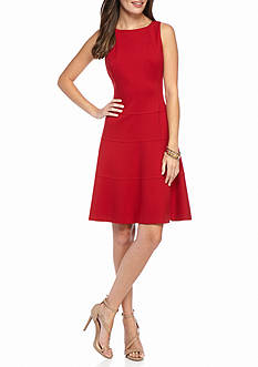 Anne Klein Ponte Drop-waist Dress