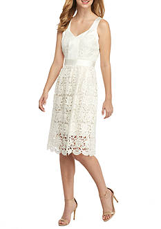Anne Klein Lace Fit and Flare Dress