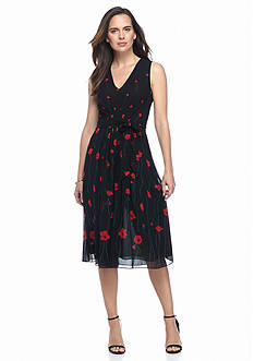 Anne Klein Printed Fit and Flare Dress