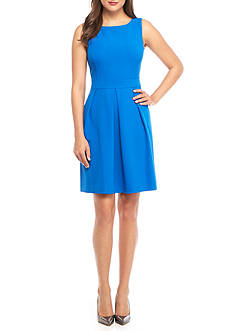 AK Anne Klein Crepe Fit and Flare Dress
