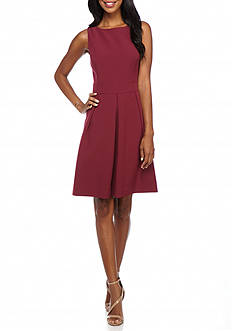 Anne Klein Crepe Fit and Flare Dress