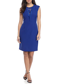 Anne Klein Lace Insert Sheath Dress
