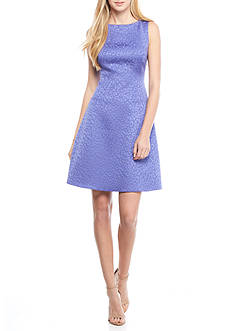 Anne Klein Jacquard Fit and Flare Dress