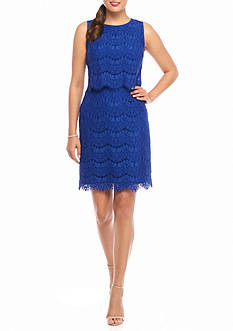 Anne Klein Lace Popover Sheath Dress
