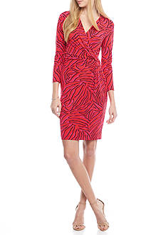 Anne Klein Printed Jersey Sheath Dress