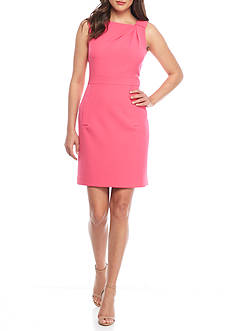 Anne Klein Asymmetrical Neckline Sheath Dress