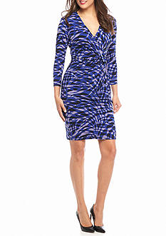 Anne Klein Printed Sheath Jersey Dress