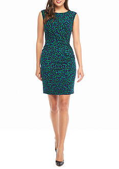 Anne Klein Printed Jersey Dress