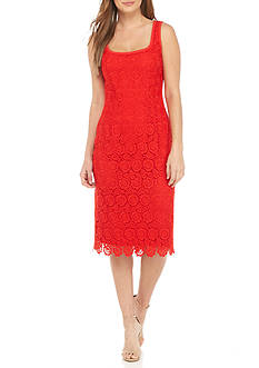 Anne Klein Lace Midi Sheath Dress