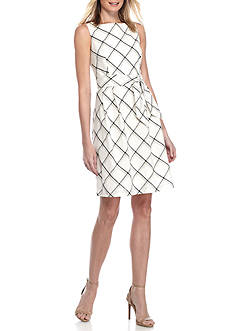 Anne Klein Plaid Fit and Flare Dress