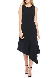 Anne Klein Asymmetrical Hem Dress