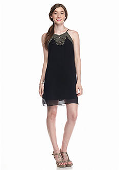A. Byer Strappy Trim Keyhole Dress