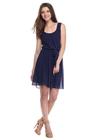 A. Byer Tank Pleated Dress