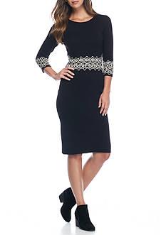 Gabby Skye Printed Sweater Dress
