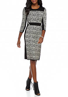 Gabby Skye Printed Sweater Dress
