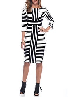 Gabby Skye Stripe Sheath Dress