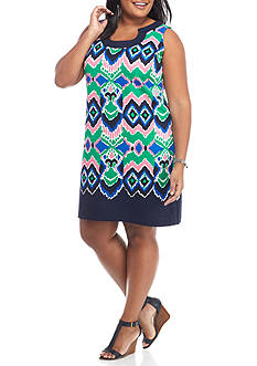Gabby Skye Plus Size Printed Sheath Dress