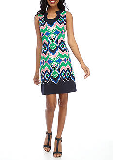 Gabby Skye Printed Sheath Dress