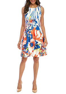 Julian Taylor Floral Fit and Flare Dress