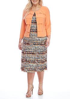 DN Designs by Danny & Nicole Plus Size Jacket Dress