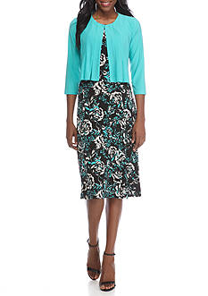 Danny & Nicole Floral Print Jacket Dress