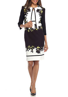 Danny & Nicole Floral Printed Jacket Dress