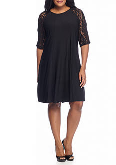 Julian Taylor Plus Size Jersey Trapeze Dress