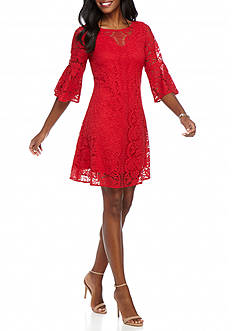 Julian Taylor Lace Trapeze Dress