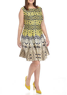 Julian Taylor Plus Size Fit and Flare Dress