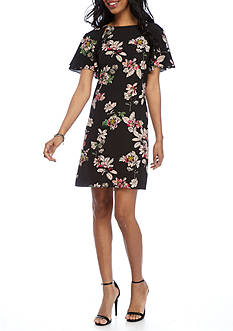 Julian Taylor Floral Printed Shift Dress
