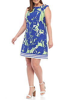 Julian Taylor Plus Size Printed Shift Dress